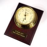 Thames Barometer / Thermometer Wall Mounted, Personalised,  ref TBT1